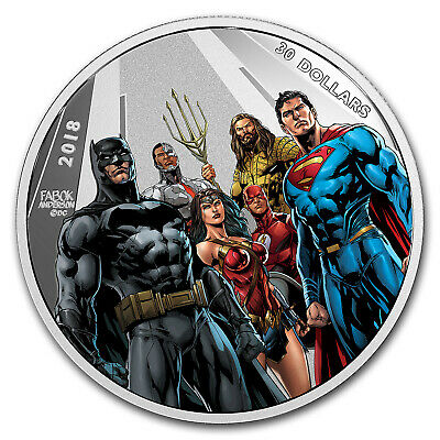 2018 2 oz Ag $30 The Justice League™ World's Greatest Superheroes - SKU #156765