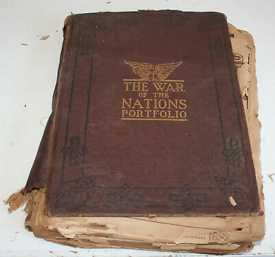 Old Book - THE WAR OF THE NATIONS PORTFOLIO  (1914-1919)  FREE SHIPPING
