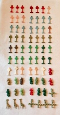 Lot of 70 Vintage Celluloid Plastic Cracker Jack Gumball Machine Prize Charms