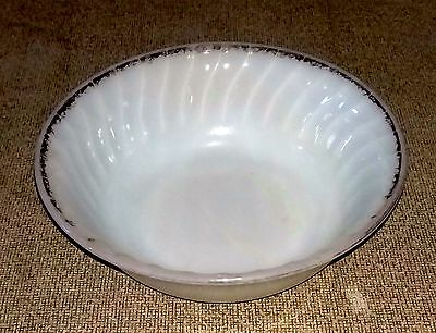Vintage Serving Bowl White With Gold Trim from 50's or 60's