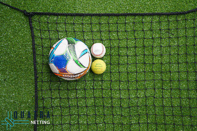Sports Barrier Netting: 10m x 3m Net / 40mm sq with 6mm Rope Border