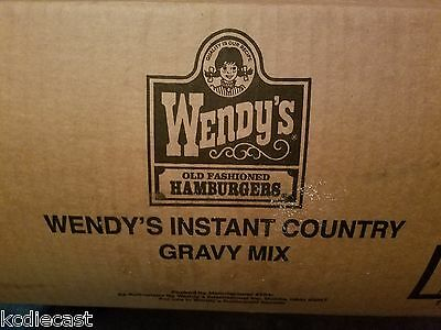 (2) 6 Ounce Wendy's Instant Breakfast Country Gravy Mix Packages Free Shipping