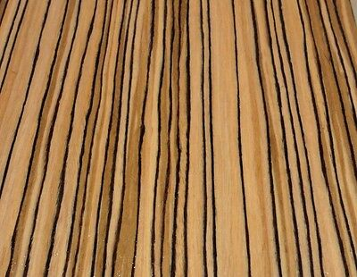 "Zebrawood African composite wood veneer 24"" x 24"" on paper backer 1/40th"" (#EFW)"