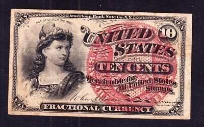 US 10c 4th Issue Fractional Currency FR 1258 VF-XF
