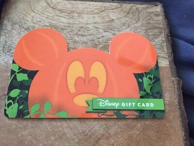 Disney Gift Card - Mickey Pumpkin Special Halloween Gift Card - No Value