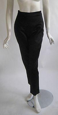 vintage 1980s GIANNI VERSACE silk high waist cigarette pants