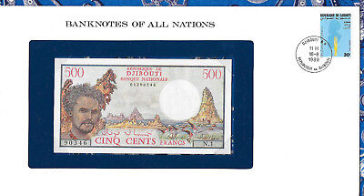 Banknotes of All Nations Djibouti 1979 500 Francs P36a UNC N.1