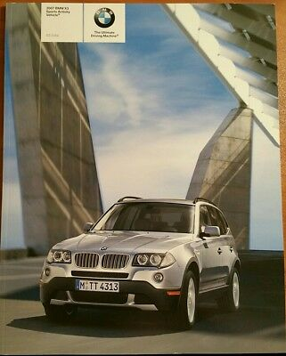 2007 Bmw X3 Automobile Book Brochure