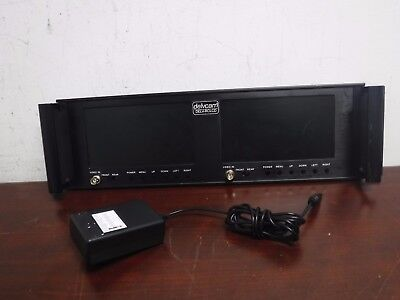 "Delvcam DELV-RCLCD Dual 7"" LCD for Dual LCD Display Rack Mount + Power Supply"