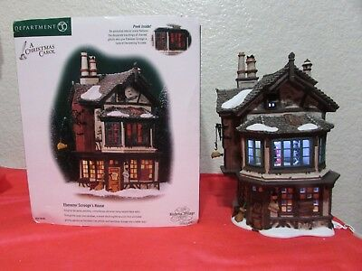 Animated Dept 56 Dickens Village A Christmas Carol EBENEZER SCROOGE'S HOUSE