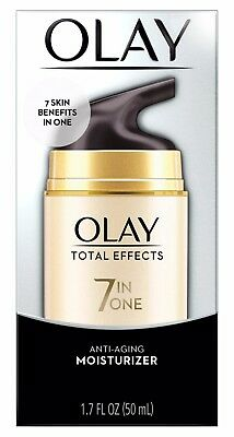 Olay Total Effects 7-in-1 Anti-Aging Daily Face Moisturizer for Women, 1.7 Fl Oz