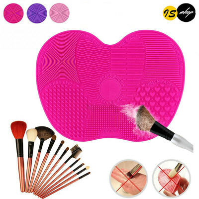 Silicone Makeup Brush Cleaning Mat Pad Scrubber Board Cosmetic Cleaner Washing