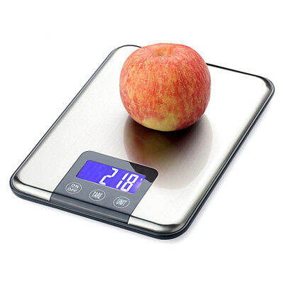 Electronic Digital Kitchen Scale 10kg 15kg 1g Food Balance Stainless Steel LCD
