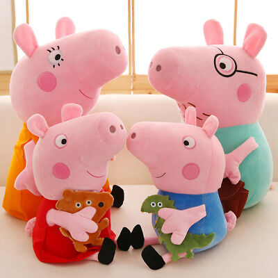 Peppa Pig Family Plush Doll Stuffed Toy DADDY & MOMMY & PEPPA & GEORGE