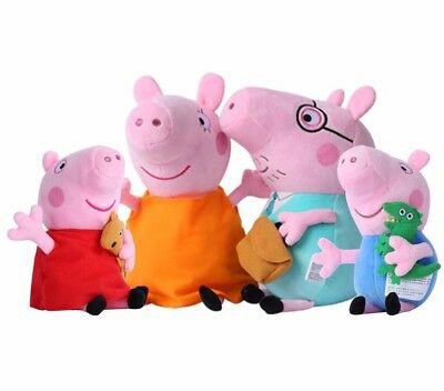 4Pcs Peppa Pig Family Plush Toy DADDY & MOMMY & PEPPA & GEORGE Doll Kids Gift