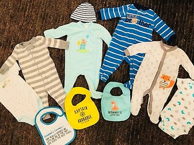 Baby Boy Clothes 0-3 Months Lot