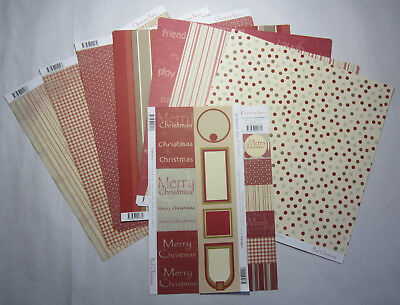 "23 Scrapbooking Australia Mixed Red Christmas 12""x12"" Paper & Journal Blocks"
