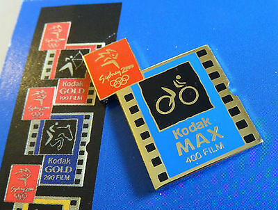 Sydney 2000 Olympic Games Kodak Pictogram Pin Set #4 Cycling New on Card VGC se