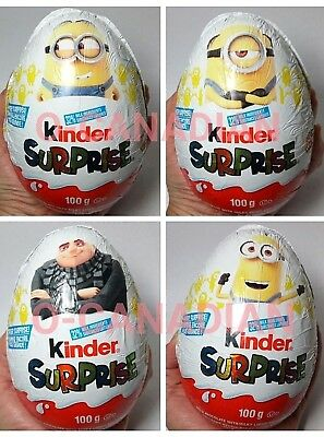 Kinder Surprise MINIONS - LARGER GIANT EGG Milk Chocolate EGGS 100g Ships fr USA