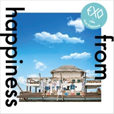 EXO - [From Happiness] DVD 2 Disc+Booklet+Card + Free tracking code (Fast)