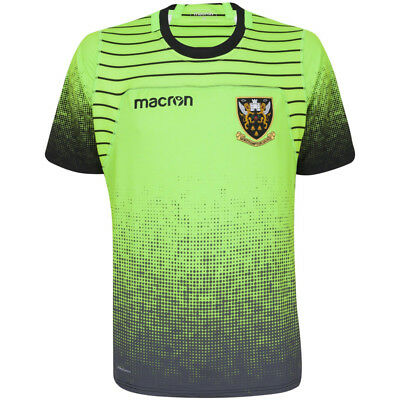 Northampton Saints 17/18 Mens Rugby Training Jersey Green With GPS Pocket