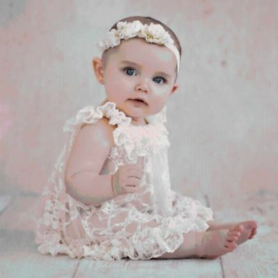 Newborn Baby Girls Lace Ruffle Dress Photography Props Photo Costume Clothes New
