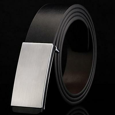 Belt Mens Luxury Smooth Buckle Belt For Men Fashion PU male Leather  New.