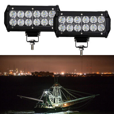 2X 36W Flood  6INCH LED Work Light Bar Driving Fog Offroad Driving Lamp SUV UTE