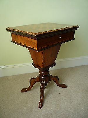 Victorian Inlaid Work/Games Table