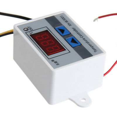 220V Digital LED Temperature Controller 10A Thermostat Control Switch Probe FR