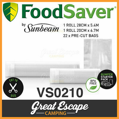 Sunbeam VS0210 FoodSaver Food Vacuum Sealer Bags. 48x 20x28cm