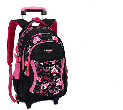 Coofit Kid Student School Bag Backpack With Wheel Rolling Detachable Trolley Bag