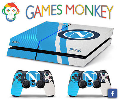 Skin PS4 NAPOLI SCUDETTO LOGO limited edition DECAL COVER Playstation 4 BUNDLE