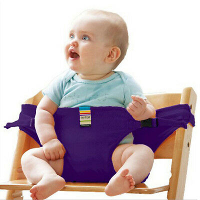 Washable Portable Baby Feeding High Chair Belt Toddler Safety Seat with Strap