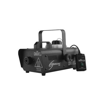 Chauvet Hurricane 1000 740W Smoke Fogger Fog Machine + Manual + Wireless Remote