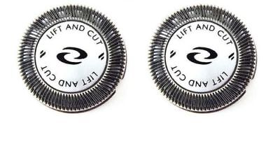 2x Shaver Heads Blade + DOUBLE Cutters for Philips Norelco HQ56 HQ55 HQ4+HQ3