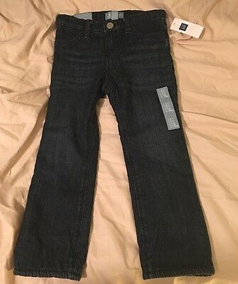 ❤️Nwts Baby Gap Factory Outlet 4T Fleece Lined Jeans Skinny Fit👖
