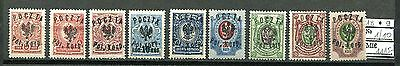 JAR D86 Poland 1918 MLH 9v OVPT /on Russian Stamps/ CV 1115 eur