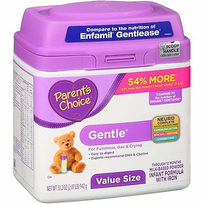Parent's Choice S0040F6 Gentle Infant Formula with Iron, 33.2 Oz