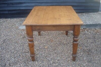 Characterful 19Th Century Pine Dining Kitchen Table Antique Victorian