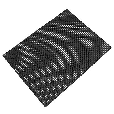 Set of 6 Large Rectangular Black Woven Fabric Placemats Table Setting Place Mats