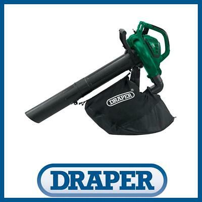 New Draper 3 in 1 Electric Garden Leaf Blower 2600W Vacuum Shredder Mulcher Vac