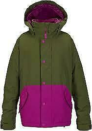 NEW Burton Echo Snowboard Jacket Youth Girls Keef / Grapeseed