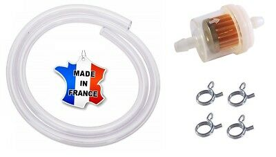 Kit Essence 6Mm - 7Mm : Filtre Durite Collier Moto Mobylette Mbk 51 Peugeot 103