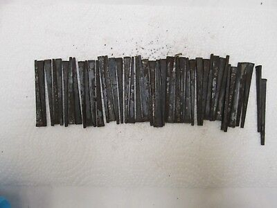 "ANTIQUE/VINTAGE CUT NAILS HARDENED STEEL SQUARE NAIL lot of 41 - 2 13/16"" long"