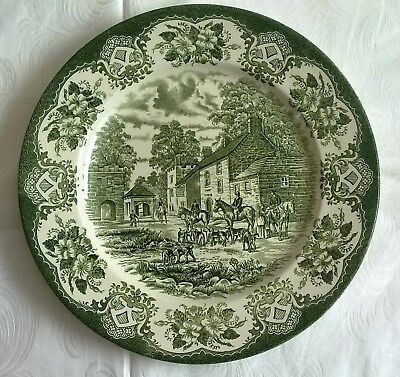 Old Inns Series Teller flach 24,5 cm 🌹Englisch Ironstone Tableware🌹Engraving