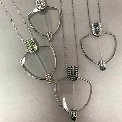 Art Deco Readers Folding Reading Glasses Necklace +1.50 Magnifiers Women's New