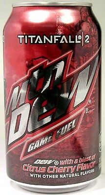 NEW FULL Mountain Dew Call of Duty TitanFall 2 Game Fuel Cherry Citrus USA 2016