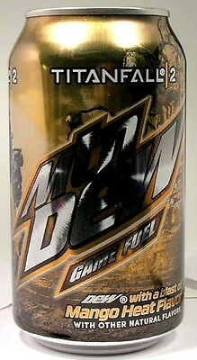 NEW FULL Mountain Dew Call of Duty TitanFall 2 Game Fuel Mango Heat USA 2016