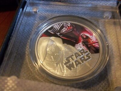 2016 Star Wars KYLO REN The Force Awakens 1oz Silver Niue Coin with box and COA